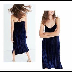 Madewell Crushed Velvet Slip Dress